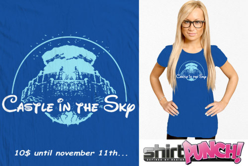 "baznetart:  ""Castle In The Sky"" tee only 10$ at ShirtPunch until november 11th : http://www.shirtpunch.com/designs/details/castle-in-the-sky#t-shirt-top"