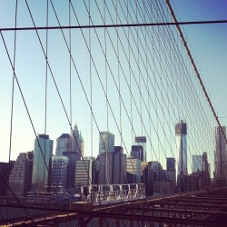 Something about this city #manhattan #nyc #brooklynbridge #freedomtower