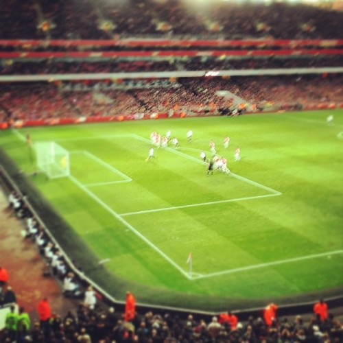 Penalty kick at the emirates (at Emirates Stadium)