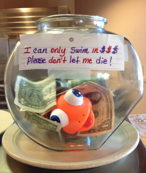 tastefullyoffensive:  Tip Jar at a Local Coffee Shop[via]