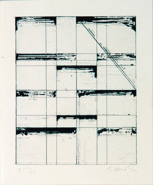 wowgreat:  (via Brice Marden, Etching for Parkett, for Parkett 7)