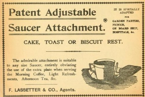 "questionableadvice:  ~ The Review of Reviews, April 1900""Cake, Toast or Biscuit Rest""  Very handy."