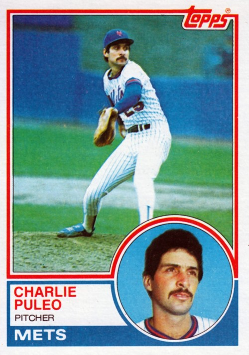 Random Baseball Card #2113: Charlie Puleo, pitcher, New York Mets, 1983, Topps.
