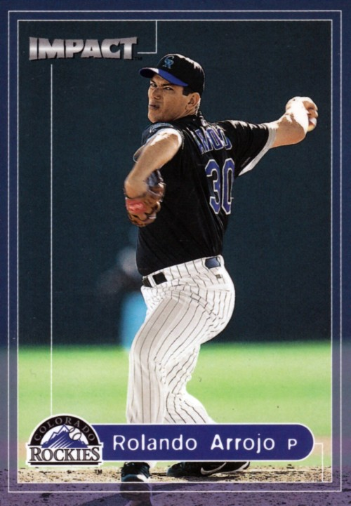 Random Baseball Card #2116: Rolando Arrojo, pitcher, Colorado Rockies, 2000, Fleer.