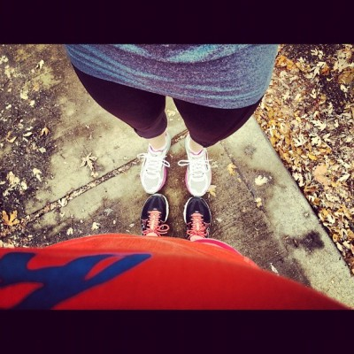 #running in the #autumn #leaves with @daynaboal