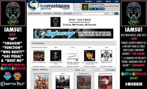 hbkgang:  Suzy Six Speed on livemixtapes home page, a little under 3 hours left! http://www.livemixtapes.com/main.php