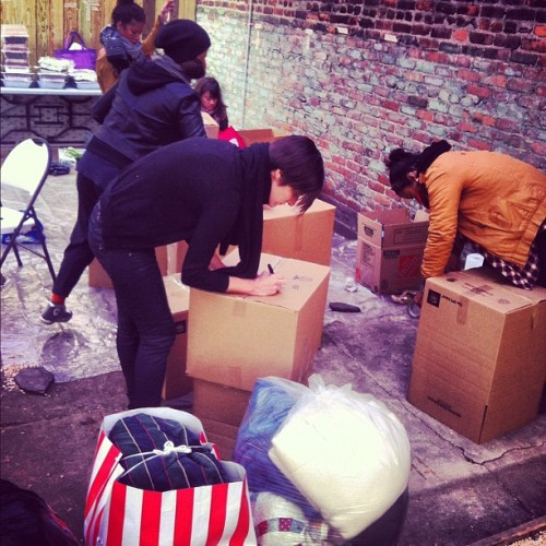 Stuff stuff stuff. Stuff for days. #sandyrelief #rsr #crest