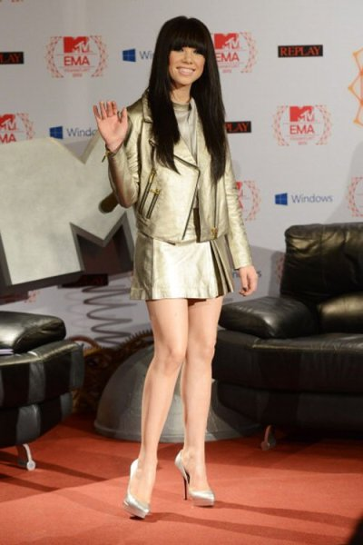Carly Rae Jepsen at the 2012 MTV European Music Awards photocall in Frankfurt, Germany today…