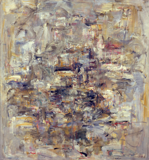 iamacanal:  Joan Mitchell - Number 12, 1953-54  i really love this person… looks like philip guston was thinking along the same lines.