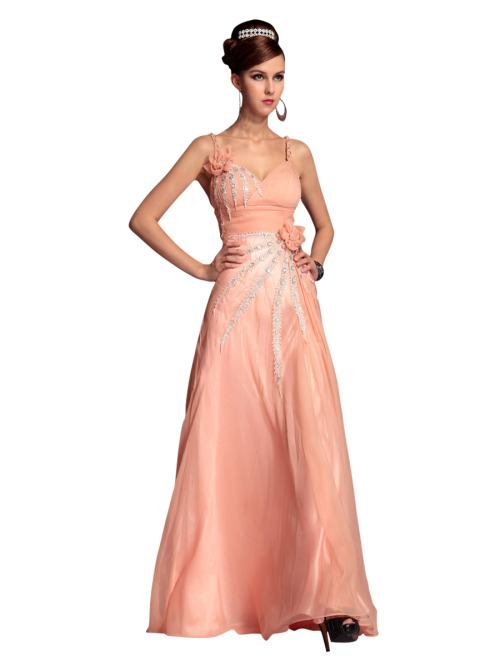 RIANA IN PINK BRIDESMAID DRESS WITH EMBELLISHMENTS  £175.00 Gorgeous pink colored bridesmaid dress featuring sleeveless A Line silhouette, chiffon overlay, floor length skirt, pleated bodice, sweetheart neckline, braided straps, and floral embellishments. Please send us a message to inquire about plus sizes and other color options.