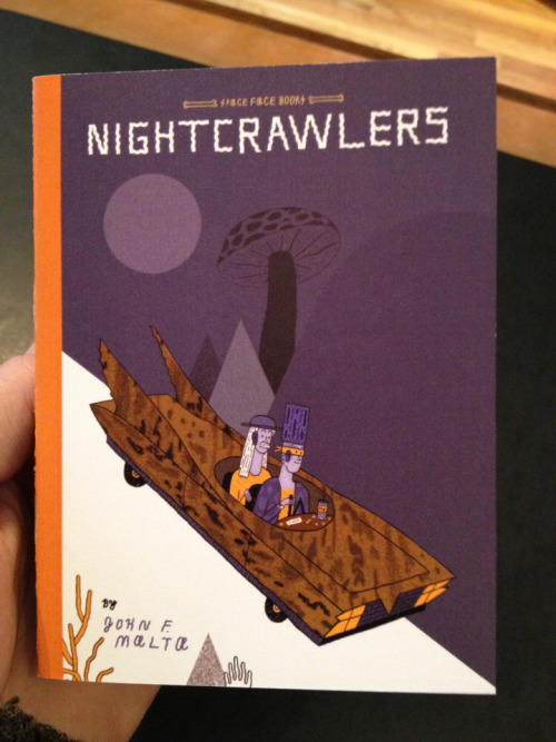 spacefacebooks:  comicsetc:  New from Space Face and John Malta!  Nightcrawlers!  John Malta had work in Throat's Dino-Show! Keep a look out for all of his amazing work!