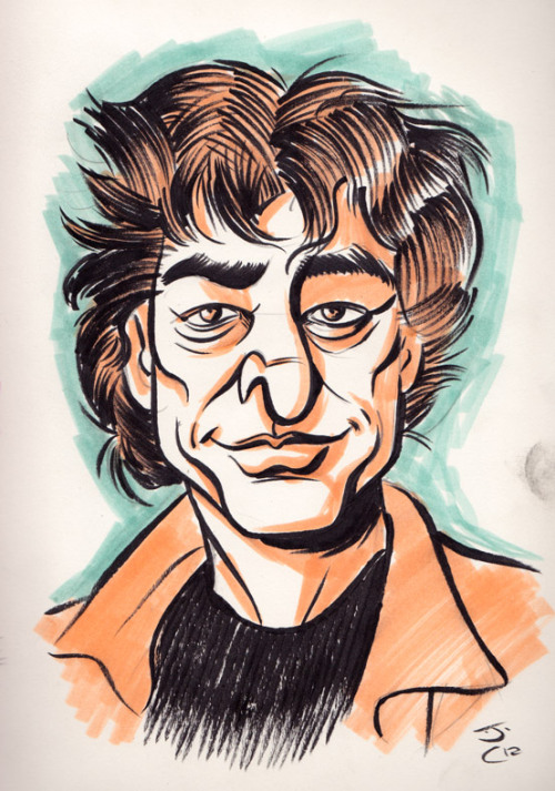 Here's a quick drawing I did of Neil Gaiman, seeing as it's his boithday today.