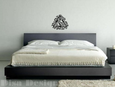 Harry Potter inspired Deathly Hallows Vine vinyl wall decal