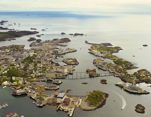 visitheworld:  Aerial view of Svolvær in Lofoten Islands, Norway (by sindrer).