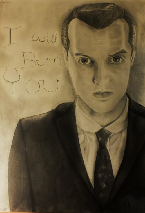 a drawing i made of Jim Moriarty 10-11-12
