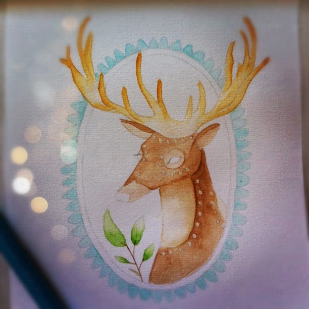 Deer in progress