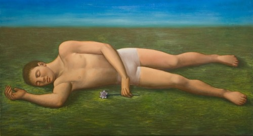 Alberto Gálvez: Narciso  |  oil on linen  |  30 x 56 inches