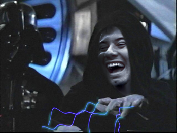 Disney hider Turus as the Emperor Palpatine