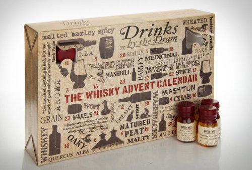 Things you need this year: The Whiskey Advent Calendar Twenty five days of whiskey… I think it's pretty self-explanatory. Of the twenty five sample bottles, 24 are various types of whiskey, and in there somewhere is a single small bottle of a 50 year aged glass of perfection. Product link