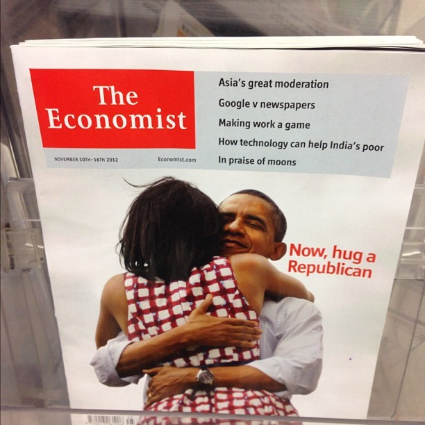 sistacrumpet:  Go do what the Prez says. (at Waitrose)  While he hugs a Republican, can I have a turn hugging Michelle?