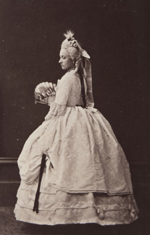 Pss Louise of England, later duchess of Argyll in roccoco costume. 1865