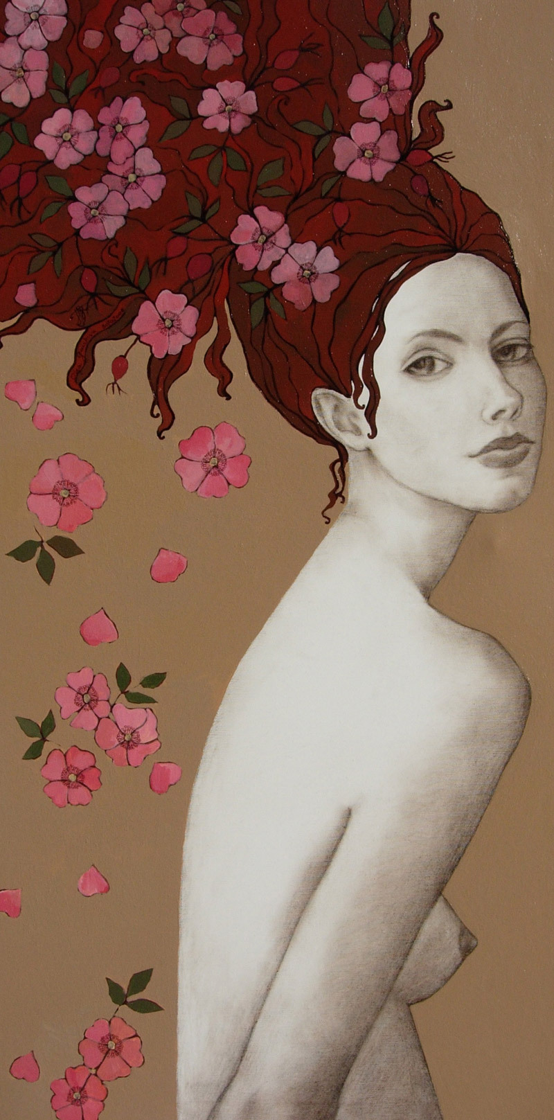 MON JARDIN50x100 cmacrylic on canvas, sepia pencil, acrylic pen2006sold