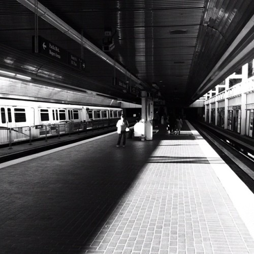 The Platform #stations #platforms #lightanddark #meian #chiaroscuro #commute #light #shadows #city #urban #transit #blackandwhite