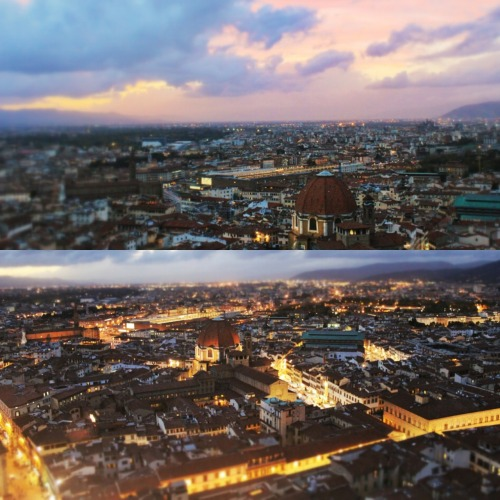 spillingoverwithwanderlust:  Firenze. Italia. Dusk. From the top of Brunelleschi's dome.    © Rachel Urbano Photography