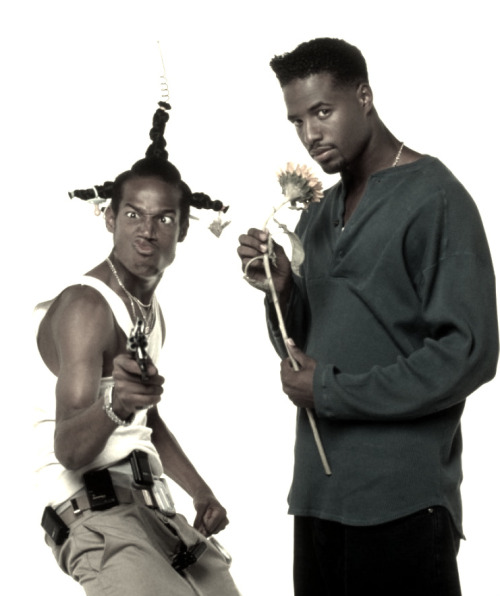Shawn Wayans and Marlon Wayans pose for Don't Be a Menace to South Central While Drinking Your Juice in the Hood (1996)