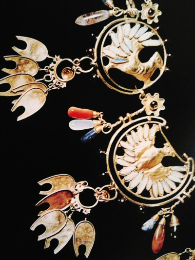avaruuskissa:  Detail of a beautiful necklace made and designed by Alphonse Mucha as a wedding gift for his first wife.  Picture taken from Alphonse Mucha life story picture book, published 1999