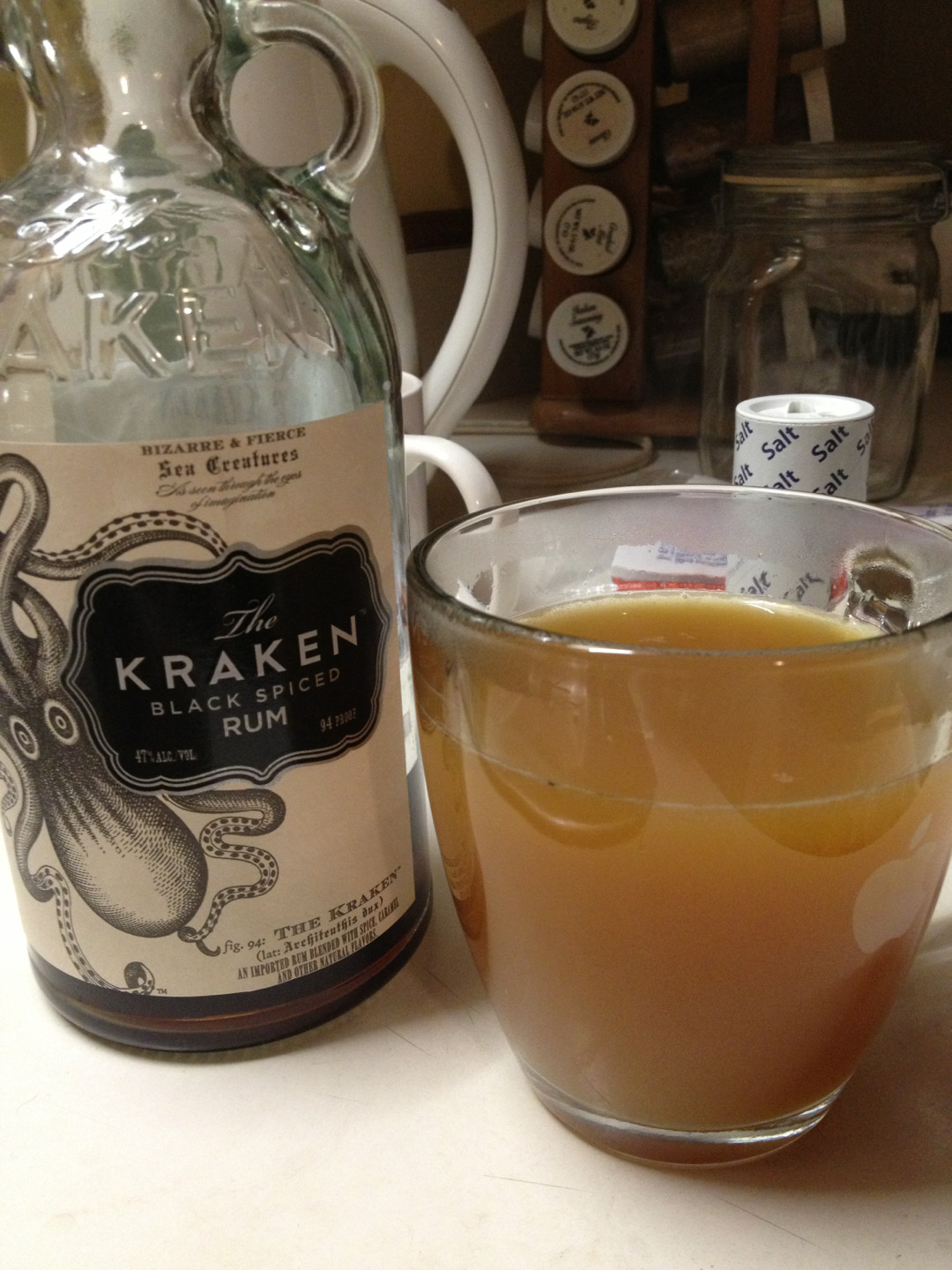 drinkinginpublic:  Kraken and Apple Cider. Tis the freakin' season!