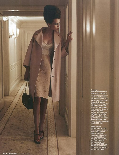 """Lady Of The House""Marie Claire UK, December 2012Model : Paula Marcina"