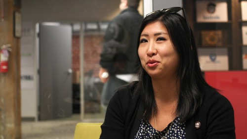 startup-dna:  Angie Chang, @thisgirlangie, very smart editor-in-chief & co-founder from Women 2.0. Love their mission to increase the number of female founders of technology startups. Thank you!  Hilarious picture.