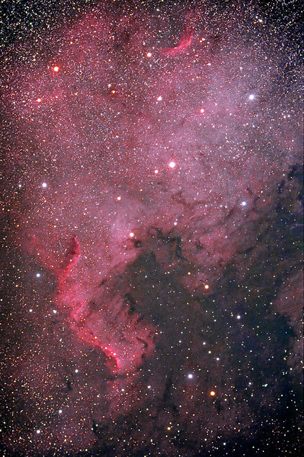 iliveinaspiralgalaxy:  North America Nebula by alexconu on Flickr.  goodnight/ good morning, tumblroos, everywhere <3