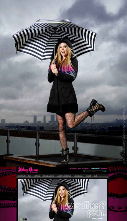 "shannonbrookeimagery:    Avril Lavigne for her clothing line Abbey Dawn. So excited this is now out on www.abbeydawn.com and in the new fall 2012 catalog. Styling by Heathyr ""Kitty Meow Meow"" makeup and hair by Gabriel Panduro ♥ photo by Shannon Brooke Imagery"