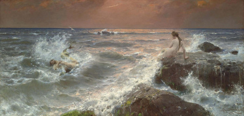 "which-witch:  Benesch Knupfer - ""Duel of the Tritons"""