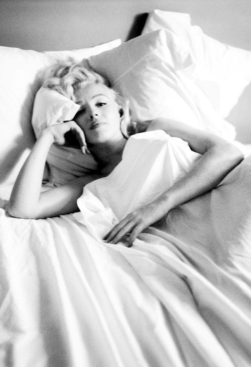 {57/100} → Marilyn Monroe Photographed by Milton Greene, 1953.