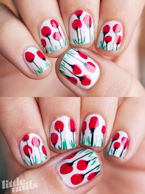 little-nails:  OPI My Boyfriend Scales Walls, OPI Dutch Tulips, OPI Jade Is The New Black, BYS Black Striper read more here…
