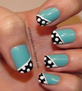 Polish Art Addiction: Teal & Polka Dots