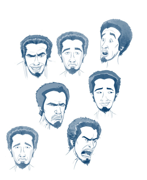 "This is the expression sheet I did of one of the Purple Dragon dudes for the TMNT episode,  ""Never Say Xever"" tmntmaster:  Purple Dragon expression sheet, exclusively from the animators at Nickelodeon http://www.turtlesvsfoot.com"