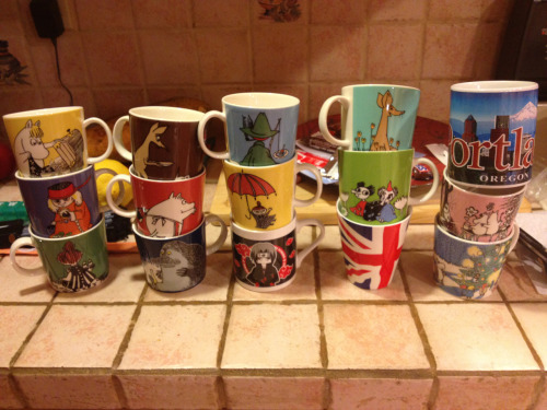 A collection of my bombass mugs