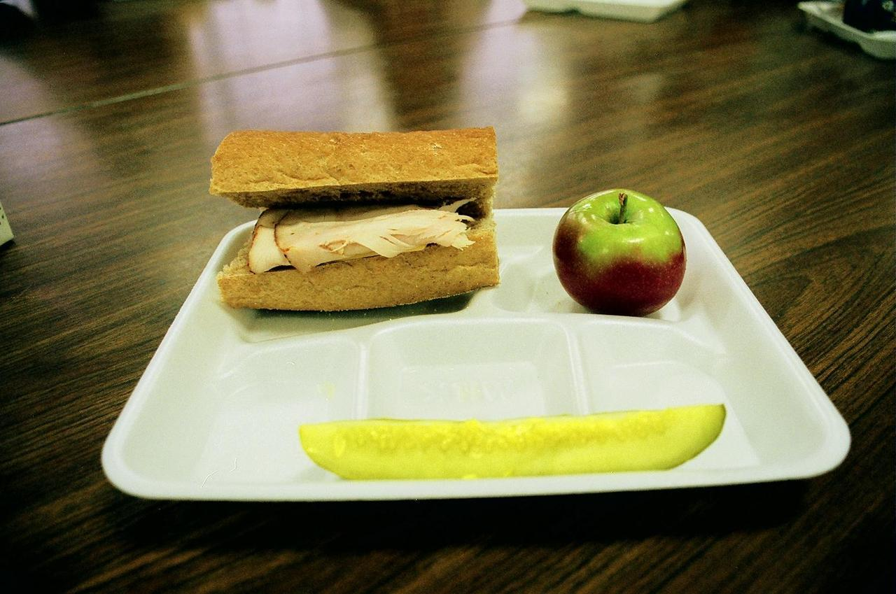 I should not go into food photography. School lunch October 2012