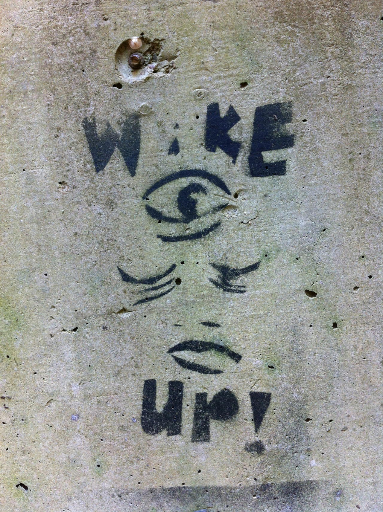 Wake up your 3rd eye!  More street art at: Euro Street Vision - my new project.