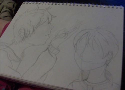 How do you art. A work in progress of Jack Frost and Jamie. Cause I love them both so mu-huh-uch~. And there's not enough art of them to please my soul~. 11/10/2012