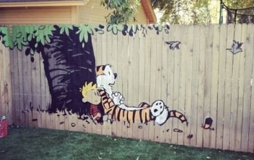 I'm pretty sure this is the most awesome fence I have ever seen a picture of on the internet.