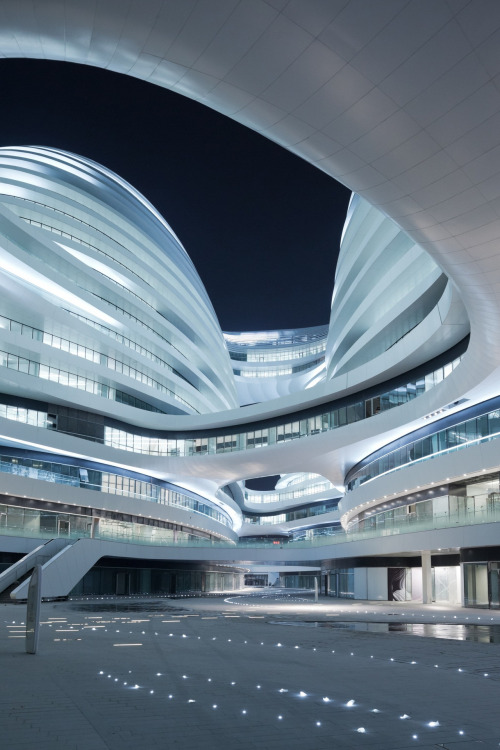 The futuristic Galaxy Soho by Zaha Hadid Architects