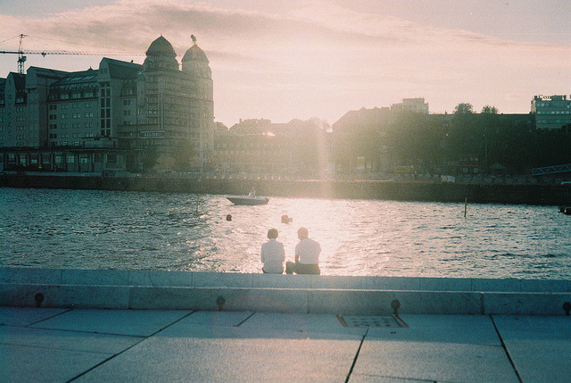 left-nut:  Couple at The Oslo Opera House by Richard S J Gaston on Flickr.