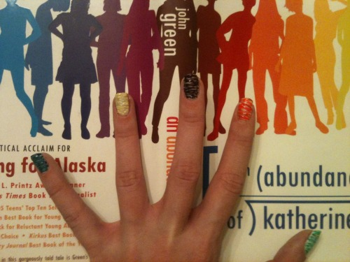 Sugar Spun Manicure with An Abundance of Katherines by John Green