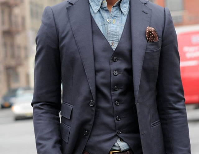 Chambray Button Up Shirt