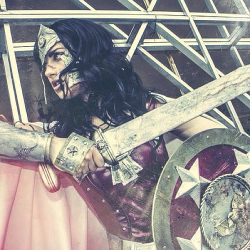 Instagramed Warrior Wonder Woman shot! Original image by OnLivo.